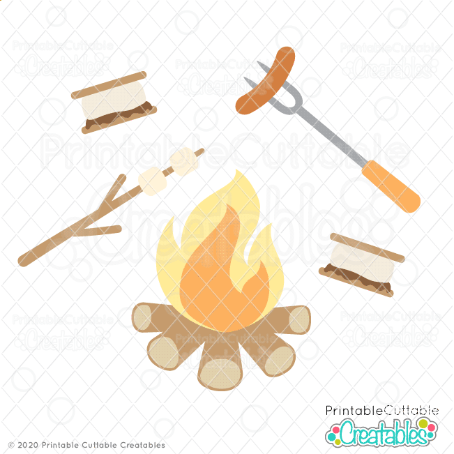 Cozy Campfire SVG Cut File