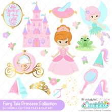 Fairy Tale Princess SVG File & Clipart Set