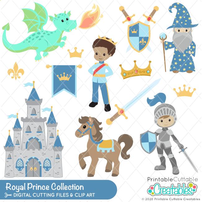 Royal Prince SVG File & Clipart Set