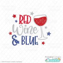 Red Wine & Blue Free SVG File