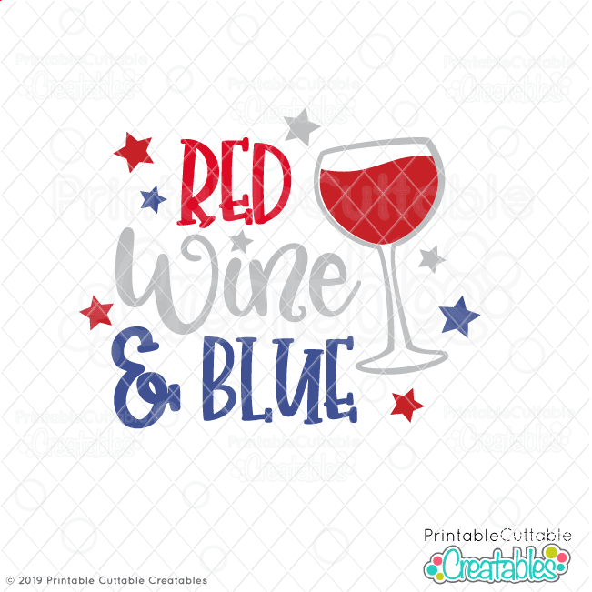 Red Wine & Blue Free SVG File