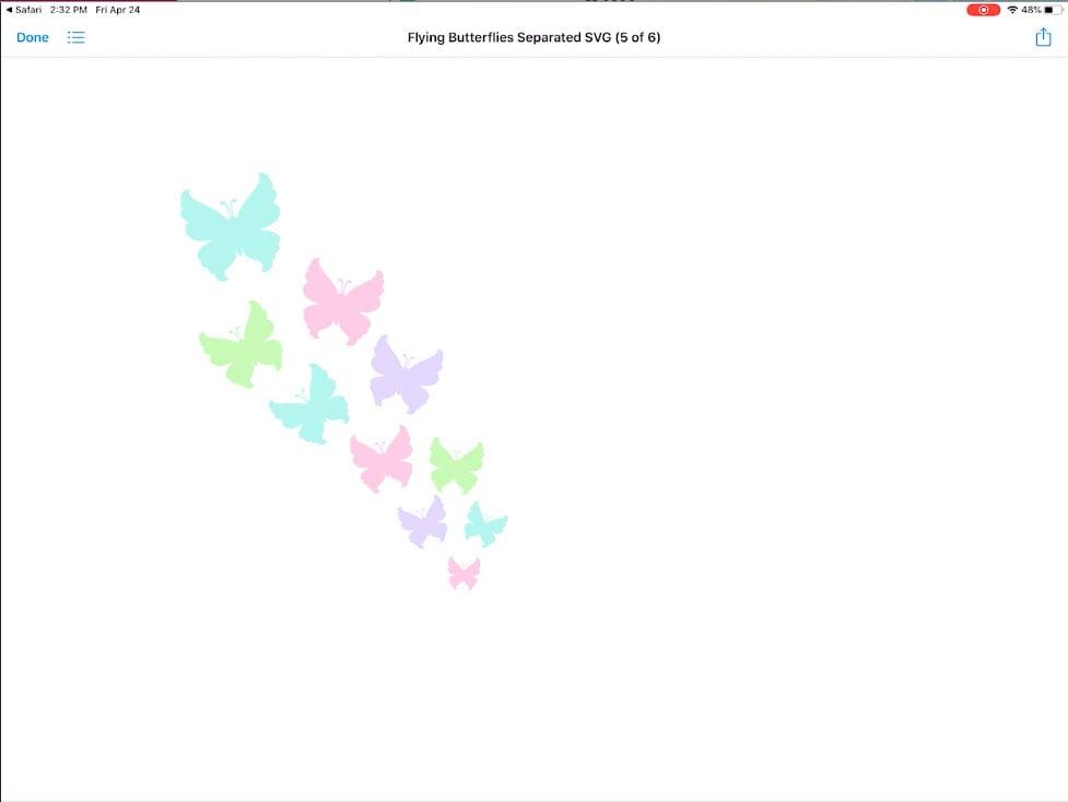 11. Previw SVG File on iPad