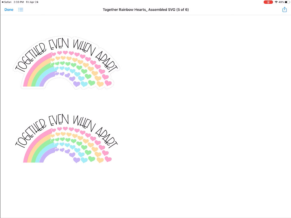 16. Preview rainbow svg file