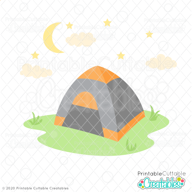 Camping Tent SVG File