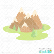 Mountains SVG File
