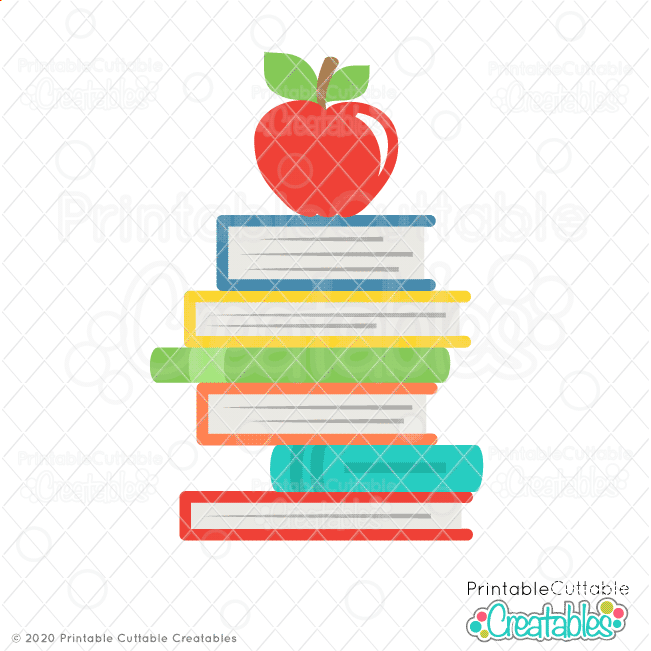 Stacked Books with Apple