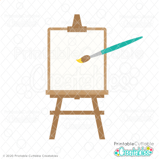 Artist Painting Easel SVG Cut File