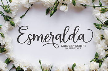 Esmeralda Free Font Commercial Use