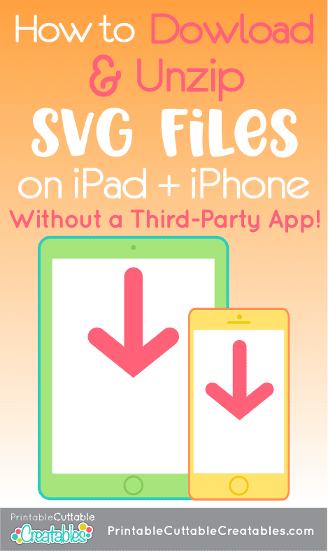 How to Download Unzip SVG Files on iPad iPhone