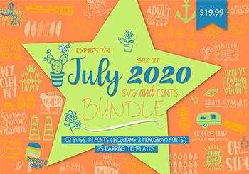 July 2020 Craft & Font Bundle - Commercial Use