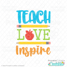 Teach Love Inspire Free SVG File