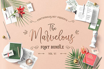 Marvelous Font Bundle V( Commercial Use Fonts