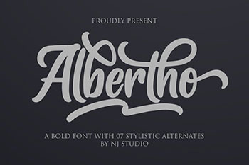 Albertho free font commercial use