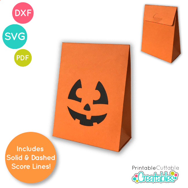 Jack O Lantern Treat Bag SVG File