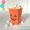 Halloween Popcorn Treat Box SVG File