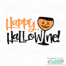 Happy Hallowine SVG File