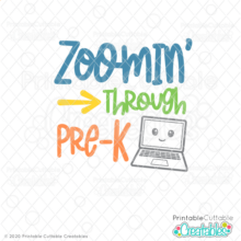 Zoomin' Through Pre-K SVG File