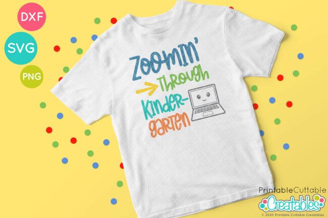 Zoomin' Through Kindergarten SVG File