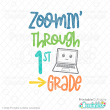 Zoomin' Through 1st Grade SVG File