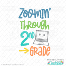 Zoomin' Through 2nd Grade SVG File