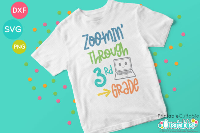 Zoomin' Through 3rd Grade SVG T-shirt Design