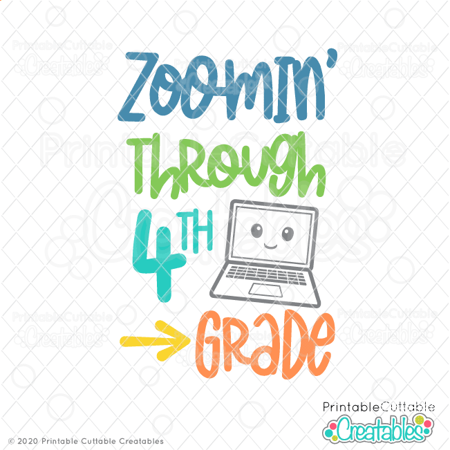 Zoomin' Through 4th Grade SVG File