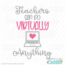 Teachers Can Do Virtually Anything Free SVG File