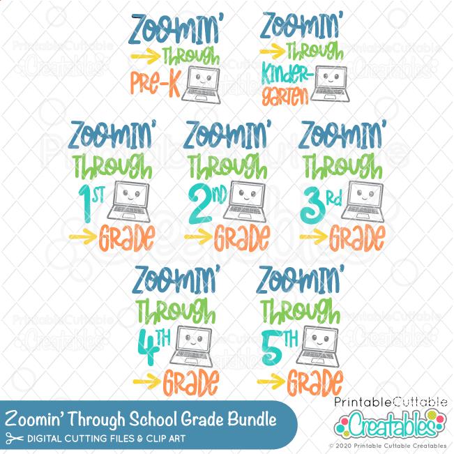 Zoomin' Through School Grade SVG File