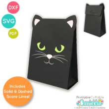 Black Cat Treat Bag SVG File