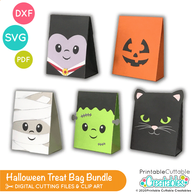 Halloween Treat Bag SVG Bundle