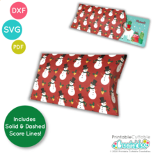 Pillow Box Gift Card Holder Free SVG File