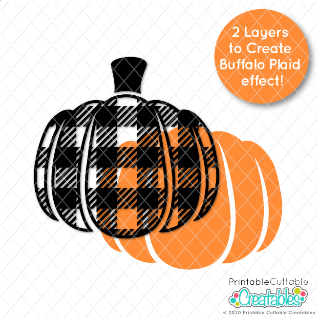 Buffalo Plaid Pumpkin Free Fall SVG Files