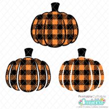 Buffalo Plaid Pumpkin Free SVG Files