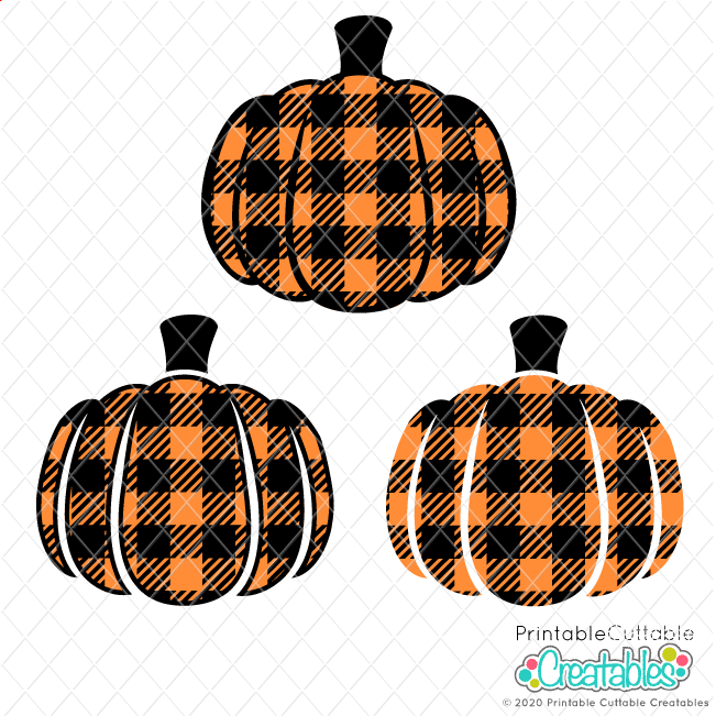 Buffalo Plaid Pumpkin Free SVG Files