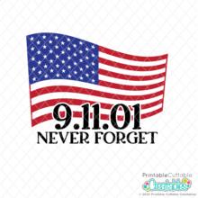 US Flag 9-11 Never Forget Free SVG