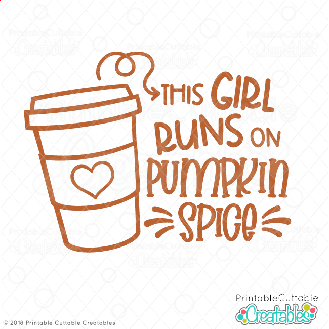 This Girl Runs on Pumpkin Spice Free SVG