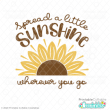 Spread a Little Sunshine Free SVG File