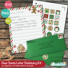 Dear Santa Letter Stationery Kit