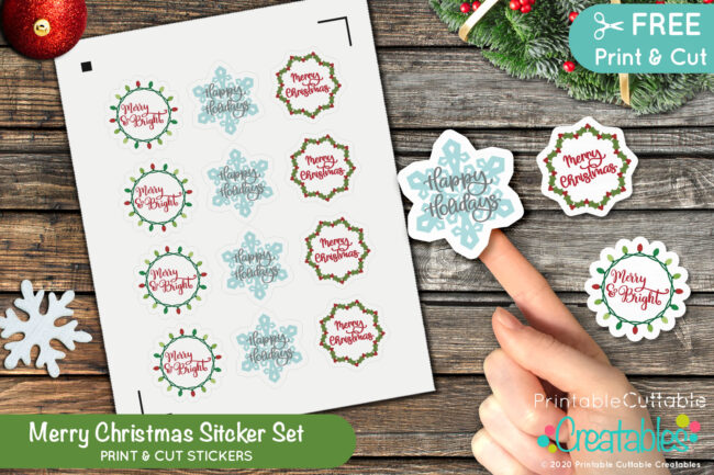Merry Christmas Sticker Set