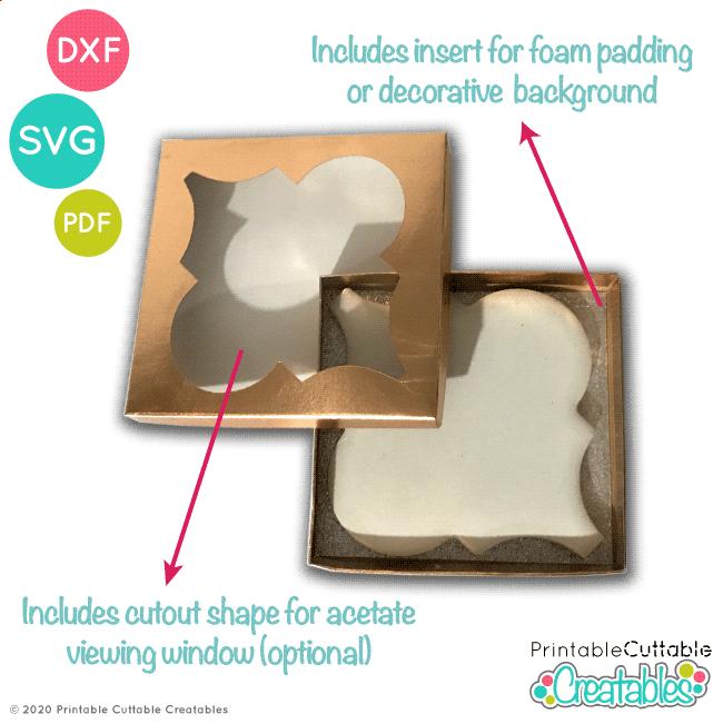 D051 Large Arabesque Tile Ornament Box SVG File preview2