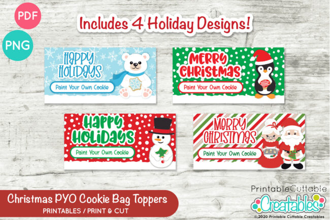 D054 Christmas PYO Cookie Bag Toppers Preview 3