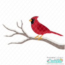 Winter Cardinal SVG Files