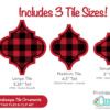 Buffalo Plaid Arabesque Tile Ornament FREE SVG Cut File