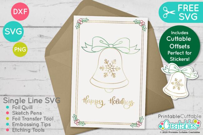SK 020 Christmas Bell Free SVG mockup