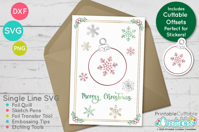 SK 020 Christmas Ornament Foil Quill SVG mockup1