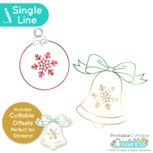 Christmas Bell & Ornament Free SVG File for Foil Quill