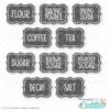 Pantry Labels Free SVG Files Print & Cut Stickers