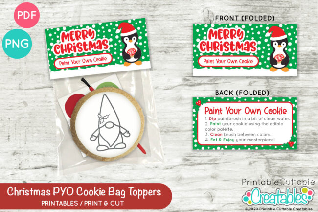 D054 Christmas PYO Cookie Bag Toppers Preview 2