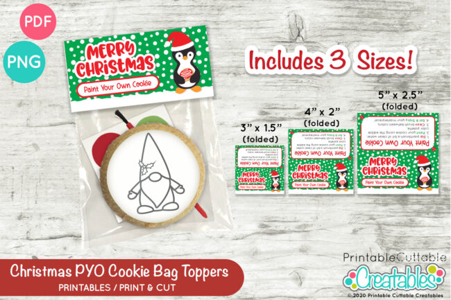 D054 Christmas PYO Cookie Bag Toppers Set Preview 4