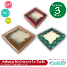 Arabesque Tile Ornament Box SVG Bundle